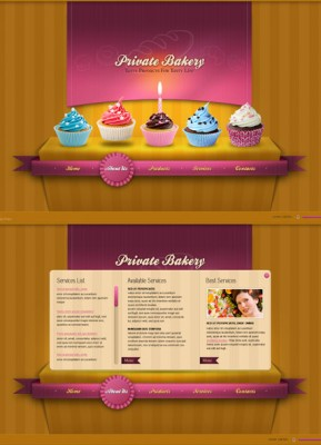 Private Bakery HTML5 template ID: 300111370