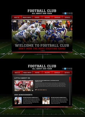 Football Club HTML5 template ID: 300111372