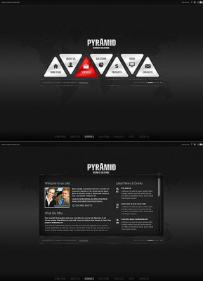 Pyramid Business HTML5 template ID: 300111376
