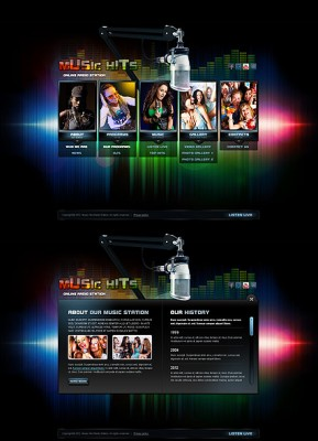 Online Radio HTML5 template ID: 300111377