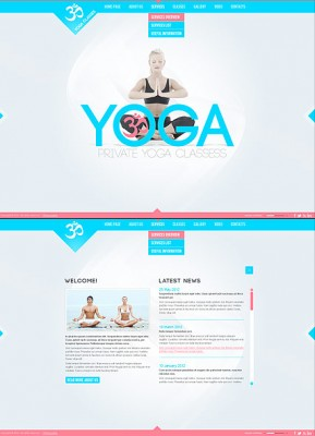 Yoga Classes HTML5 template ID: 300111379
