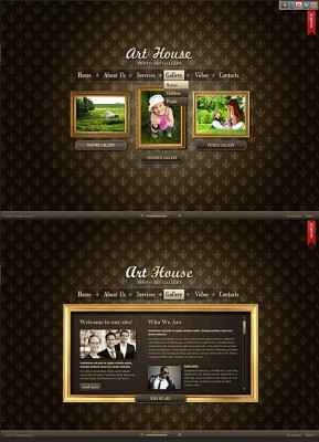 Art Gallery HTML5 template ID: 300111381