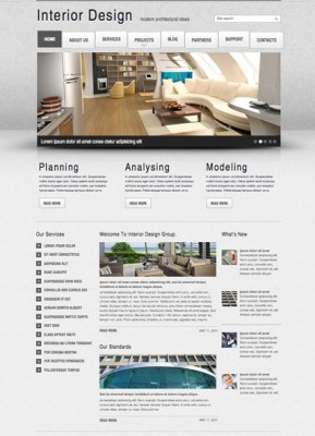 Interior Design v2.5 Joomla template ID: 300111395