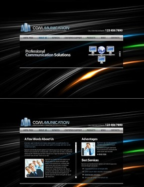 Communications HTML5 template ID: 300111399