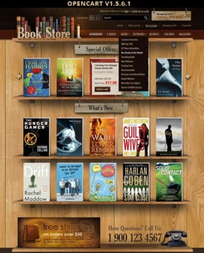 Book Store OpenCart template ID: 300111402