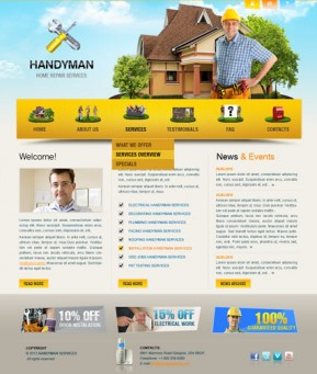 Home repair v2.5 Joomla template ID: 300111405