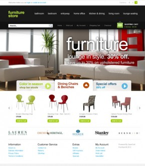 Furniture Store OpenCart template ID: 300111406