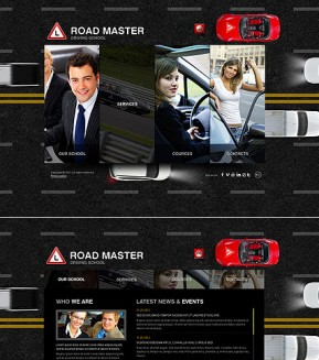 Driving School HTML5 template ID: 300111413