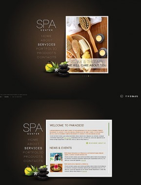 SPA Salon HTML5 template ID: 300111415