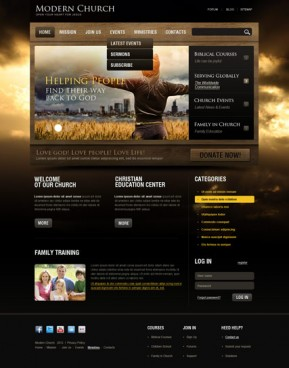 Church v2.5 Joomla template ID: 300111420
