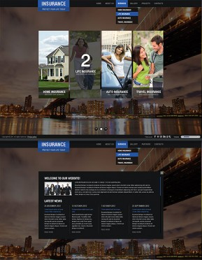 Insurance Company HTML5 template ID: 300111421