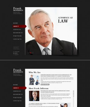 Private Lawyer HTML5 template ID: 300111438