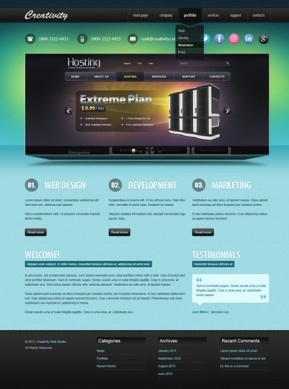 Design studio v2.5 Joomla template ID: 300111439