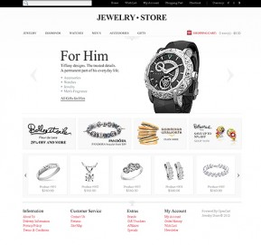 Jewelry Store OpenCart template ID: 300111441