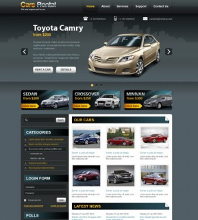 Rent a car v2.5 Joomla template ID: 300111445