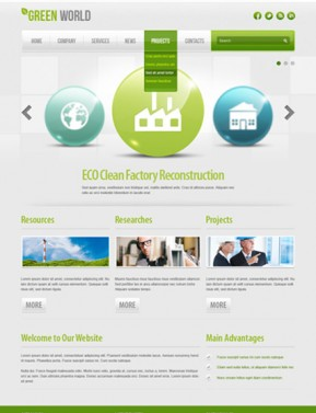 Green energy v2.5 Joomla template ID: 300111452