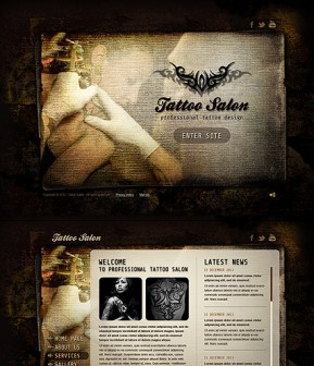 Tattoo Salon HTML5 template ID: 300111456