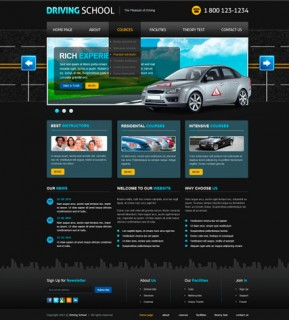 Driving School v2.5 Joomla template ID: 300111459