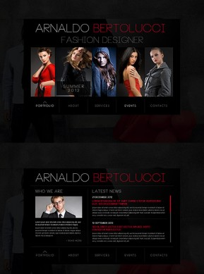 Fashion Designer HTML5 template ID: 300111464