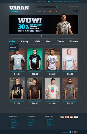 T-Shirts OpenCart template ID: 300111467