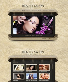 Beauty Salon HTML5 template ID: 300111477