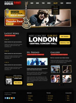 Rock Band v2.5 Joomla template ID: 300111478