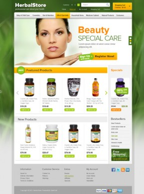 Herbal OpenCart template ID: 300111481