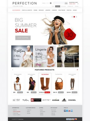 Clothes OpenCart template ID: 300111482