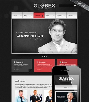 Global Business Wordpress template ID: 300111498