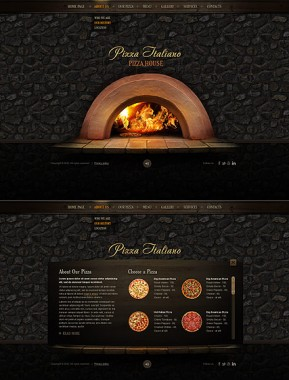 Pizza Italiano HTML5 template ID: 300111508