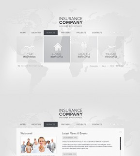 Insurance HTML5 template ID: 300111510