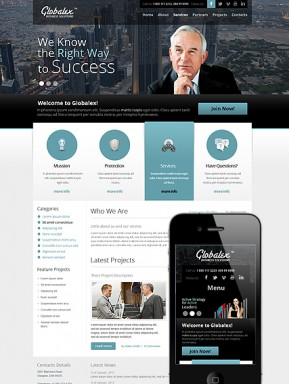 Good Business Wordpress template ID: 300111512