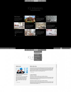 Black White Interior HTML5 template ID: 300111516