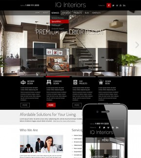 Interior Design Wordpress template ID: 300111519