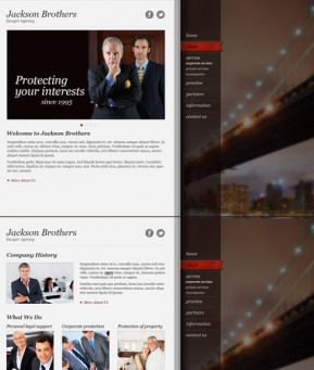 Private Lawyer HTML5 template ID: 300111521