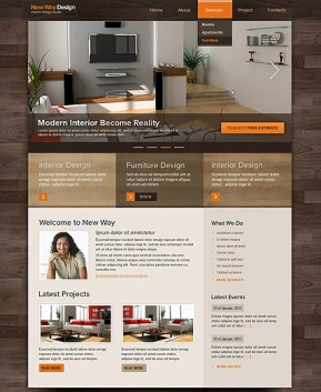 Interior Design HTML template ID: 300111522