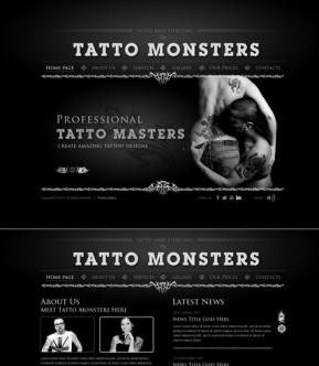 Tatto and piercing HTML5 template ID: 300111523