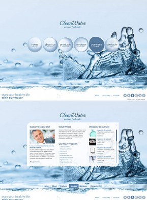 Clean Water HTML5 template ID: 300111525