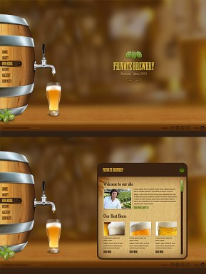 Beer Company HTML5 template ID: 300111527