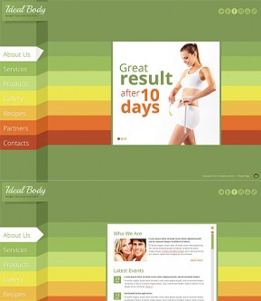 Weight Loss HTML5 template ID: 300111528