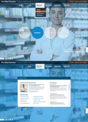Medical Service HTML5 template ID: 300111530