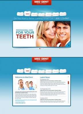 Dentistry HTML5 template ID: 300111531