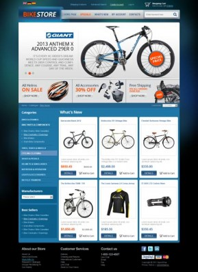 Bike Store v2.3 osCommerce ID: 300111534