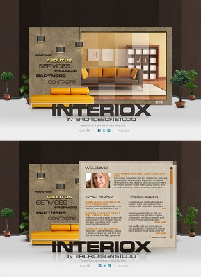 Interior Studio HTML5 template ID: 300111537
