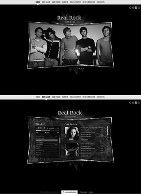 Real Rock HTML5 template ID: 300111538