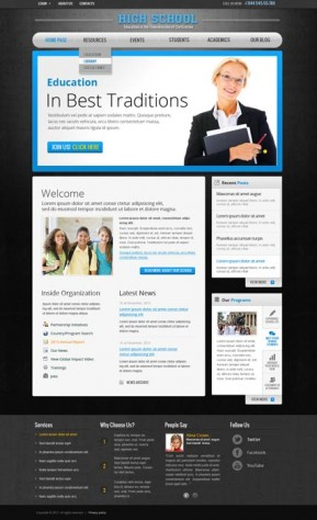 School v2.5 Joomla template ID: 300111540