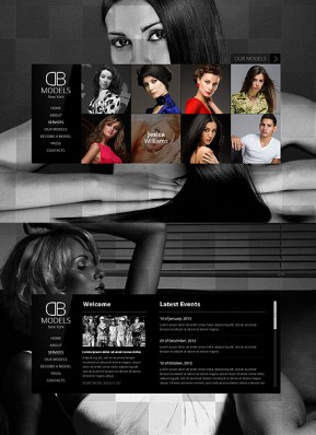 Model Agency HTML5 template ID: 300111542