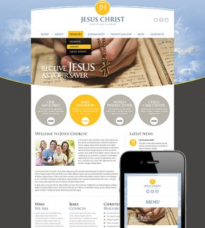 Christian Church Wordpress template ID: 300111550