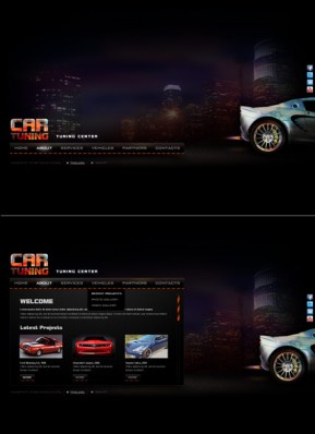 Car Tuning HTML5 template ID: 300111553