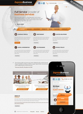 Express Business Wordpress template ID: 300111560